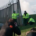 Zollzaunöffnung mit IBA Kritik in Hamburg Wilhelmsburg