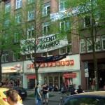 Besetzung des ehemaligen Finanzamtes in Hamburg Altona